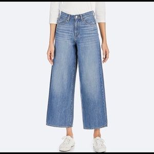 Uniqlo High Rise Wide Fit Jeans